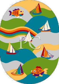 Ковер Funky Fit lime Oval